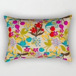 Wildflowers and Cherries Rectangular Pillow