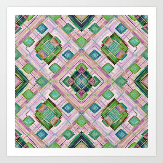 Squares in squares  Art Print