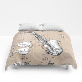 patent art Gillespie Saxophone 1945 Comforters