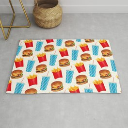 Combo Meal Pattern 2 - White Rug