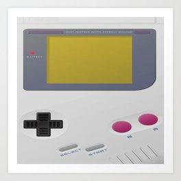 Minimal Game Boy Art Print