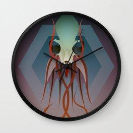 Pried In V Wall Clock
