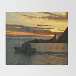 The End Of A Beautiful Day Throw Blanket