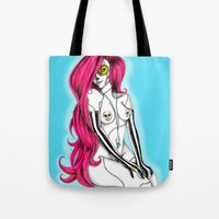 pinup Tote Bags featuring Pinup by mojo licious