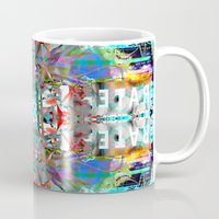 rave Mugs featuring RATE RAVE by Riot Clothing