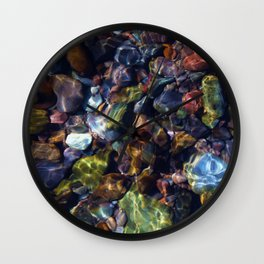 River Rock - The Country Life Wall Clock