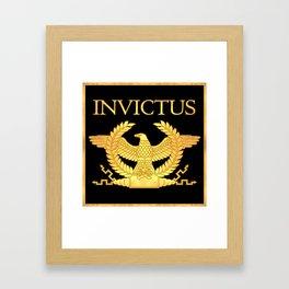 Invictus Eagle on Black Framed Art Print