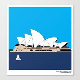 Opera House Utzon Modern Architecture Canvas Print