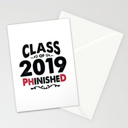 Class of 2019 PhinisheD Funny Ph.D Grad Stationery Cards