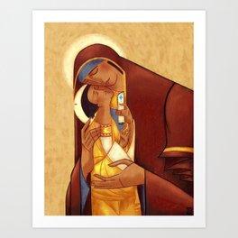 Theotokos with Christ Art Print