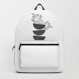 Vibration - Minimalism Mid-Century Modern Forms Backpack