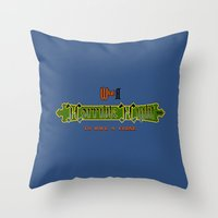 castlevania Throw Pillows featuring Castlevania II - What a Horrible Night to Have a Curse by Aaron Campbell