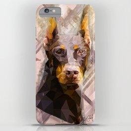 Doberman (Low Poly) iPhone Case
