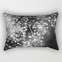 Dill In Black and White Rectangular Pillow