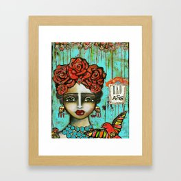 FRIDA PAINTING BAD ASS Framed Art Print