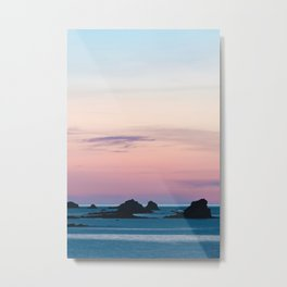 Pouldu Beach Sunset Metal Print