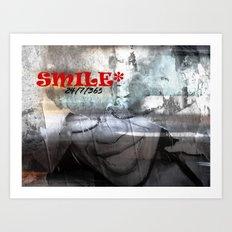 SMILE - 24/7/365 Art Print