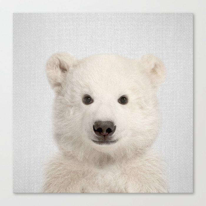 Polar Bear - Colorful Canvas Print