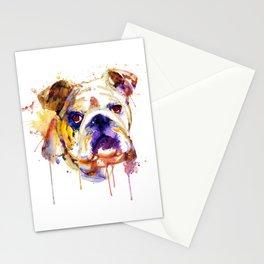 English Bulldog Head Stationery Cards