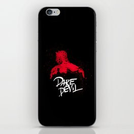 Bloody Devil  Poster iPhone Skin