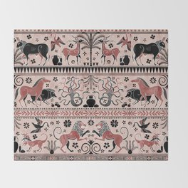 Greek Mythical Beasts Throw Blanket