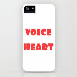 I Am His Voice He Is My Heart T-shirt Design Love Marriage Relationship Anniversary Wife Husband iPhone Case