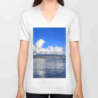 vancouver V-neck T-shirts featuring North Vancouver by Chris Root