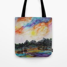 WAtercolor City Tote Bag