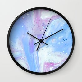 Pastel blue fluid abstract Wall Clock