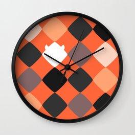 Warm touch of Geometric Rebelion Wall Clock