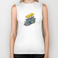 acdc Biker Tanks featuring ACDC: ROCK ON! by paragraph