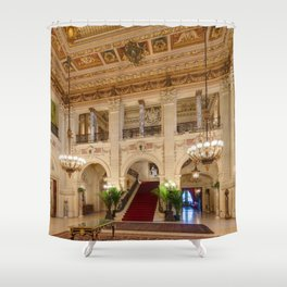 Newport Mansions, Rhode Island - The Breakers Grand Hall by Jeanpaul Ferro Shower Curtain