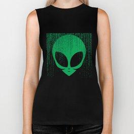 Extraterrestrial Algorithms Codes Effect Alien Face T-Shirt Biker Tank