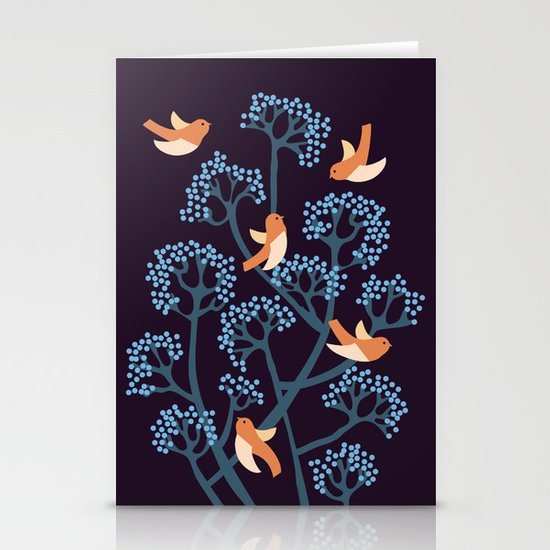 Birds Are singing Stationery Cards