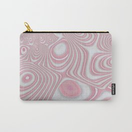 Rose Quartz Candy Cane Swirl Carry-All Pouch