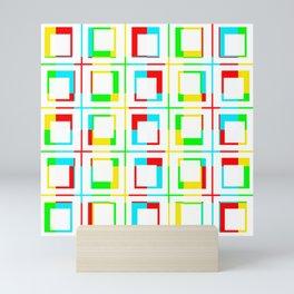 Color Bars/Window - White Mini Art Print