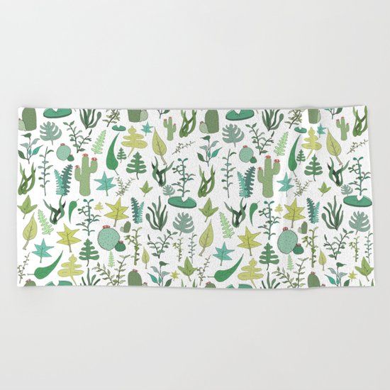 Natural Pattern collab. Beach Towel