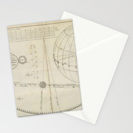 The Transit of Venus, from Astronomy explained upon Sir Isaac Newton's principles (1770) Stationery Cards