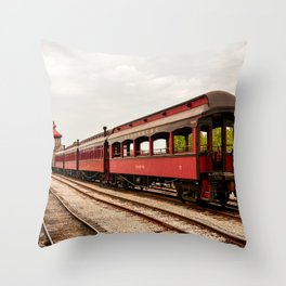 Strasburg Passenger Cars Throw Pillow