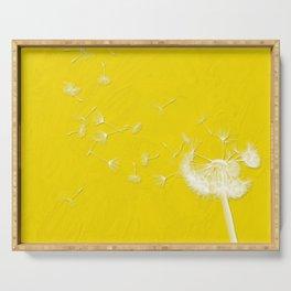 Windblown Dandelion - Yellow Serving Tray