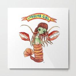 Lobster Girl Metal Print