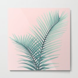 Intertwined - Palm Leaves in Love #2 #tropical #decor #art #society6 Metal Print
