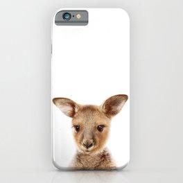 Baby Kangaroo, Baby Animals Art Print By Synplus iPhone Case