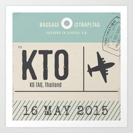 Travel Tag Art Print