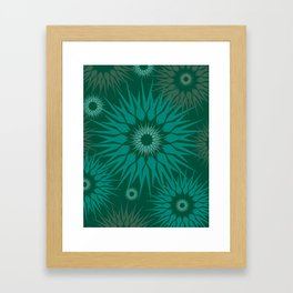 Dark Spiky Burst Framed Art Print