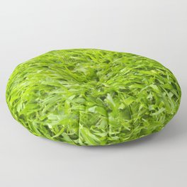 A million leaves of grass. Green is Everything Floor Pillow