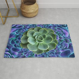 LILAC JADE SUCCULENTS GARDEN PATTERN Rug