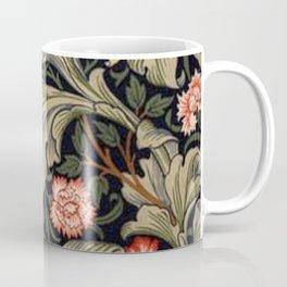 William Morris Laurel Multi-Colored Floral Textile Pattern Sunflower, Aster, Dahlia Coffee Mug