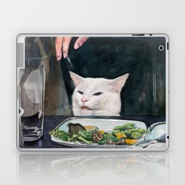 Woman Yelling at Cat Meme-2 Laptop & iPad Skin