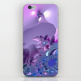 Stormy fractal waters and the lighthouse iPhone Skin